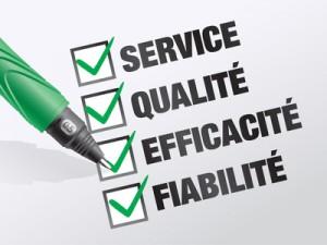 engagements : service, qualité, efficacité